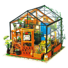 DIY 3D House Mini Wooden Flower Dollhouse With Furniture Kit Light Creative Gift