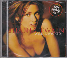 CD PICTURE 12T SHANIA TWAIN WILD & WICKED + POSTER NEUF SCELLE 2000 ITALY