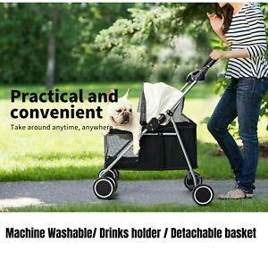 PaWz Large Pet Stroller Travel Carrier Dog Cat Cage Foldable Pushchair Pram