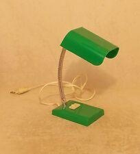 FRENCH PLASTIC SWAN NECK DESK BEDSIDE LAMP 70s 80s RETRO VINTAGE MID-CENTURY