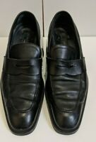 DSQUARED2 Black Leather Penny Loafers - Size 42 EU / 9 US - Handmade in Italy