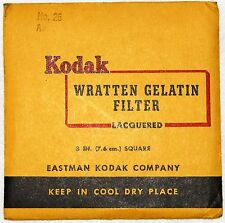 Kodak Wratten 25 Red 3 inch (75 mm) Gelatin Filter VERY GOOD condition