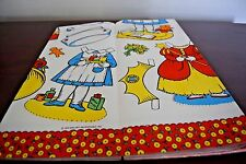 RARE J0AN WALSH ANGLUND 1975 vintage paper doll WAFFLE PAPER TABLECLOTH