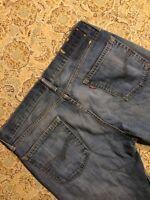 Levis Men's Blue Jeans Size 33x32 Straight Leg Work Wear Denim Pants Distressed