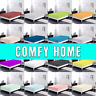 Comfy Home 100% Cotton Solid Color Fitted Sheet  All Seasons -Deep Pocket Spring