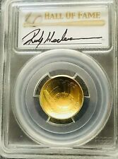 2014 W $5 GOLD BASEBALL HALL OF FAME PCGS MS69 RICKY HENDERSON