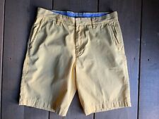 "Mens J CREW Size 32 Yellow Cotton Shorts 9.5"" Inseam"