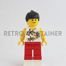 LEGO Minifigures - 1x twn082 - Girl - Flower Shirt Omino Minifig Set 10196