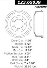 Centric Parts 123.65039 Rear Brake Drum