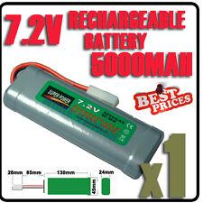 1 pcs 7.2V 5000mAh Ni-Mh rechargeable batterie RC Tamiya Plug accu
