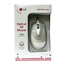 Two (2) New LG XM-260 Series 3D Optical Mouse Mice w/ Scroll Wheel