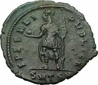 CONSTANTIUS II  w globe Constantine the Great son Ancient Roman Coin i22504