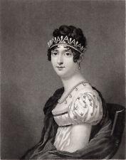 Napoleon's Josephine HORTENSE Bonaparte Queen o Holland engraving JOHN SARTAIN s