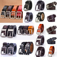 Classic Mens Leather Belt Casual Pin Buckle Waistband Belts Strap Waist Jewelry