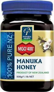 Manuka Health MGO 400+ Manuka Honey from New Zealand (20+) - BIG JAR 500g