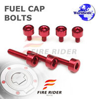 FRW Red Fuel Cap Bolts Set For Honda CB 900 F Hornet 01-07 02 03 04 05 06 07