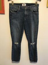 Women's PAIGE SZ 30 Verdugo Ankle Medium wash distressed Knees Denim Jeans
