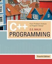 C++ Programming: Problem Analysis to Program Design 4E
