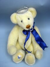 "Lenore DeMent 16"" White Plush Princess Di Bear by Ashton-Drake 1998 - Ltd. Ed."