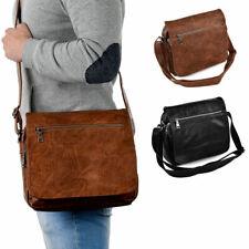 Borsa da uomo con tracolla in pelle borsello cartella di cuoio vintage a spalla