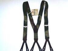 New Ralph Lauren RRL Leather trim Military Camo print suspenders braces