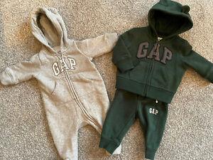 Gap Zip Up Suit Track Suit 2 Piece 0-3 3-6 Months Bundle