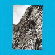 "Foto Pilatus Bahn ""Eselwand"" Dampf Zahnradbahn! Abzug Glasdia! aus ca 1900!"
