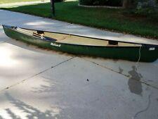 Mohawk Green Fiberglass Canoe 17' Blazer