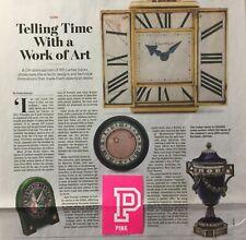 CARTIER CLOCKS CHRISTIE S AUCTION WORK OF ART WALL STREET JOURNAL ARTICLE WSJ .
