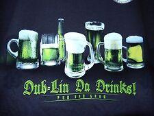 Newport Blue T Shirt Green Beer Dub-Lin Da Drinks! Pub and Grub-size L  NWT