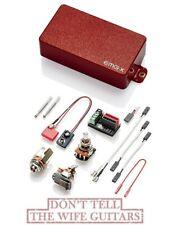 EMG 81X Rosso attivo senza saldatura Humbucker Pickup per chitarra albero corto Pentole & Cablaggio