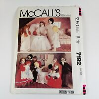 1980's VTG McCall's Dollhouse Family and Doll Clothes Pattern 7192 Uncut