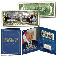 DONALD TRUMP 45th Presidential INAUGURATION $2 Bill in Large Collectors Display