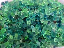 1/2 lb Beautiful Blue & Green Fluorite Octahedron Crystals - Bulk Lot