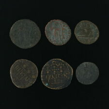 Ancient Coins Roman Artifacts Figural Mixed Lot of 6 B6243