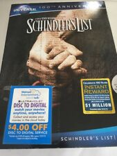 Schindlers List (DVD, 2012, Canadian Universal 100th Anniversary)