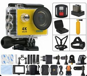 Action Camera Ultra HD 4K Focus WiFi 170D Underwater Waterproof Sports Helmet