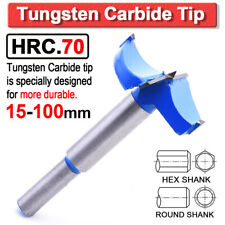 Hex/Round Shank Forstner Woodworking Drill Boring Hole Saw Cutter Carbide Tip
