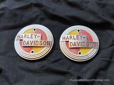 Harley 57 tank badges Harley Davidson Panhead Gas Tank emblem 1957 Sportster