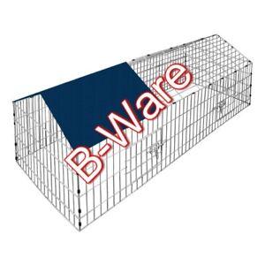 B-Ware Kaninchenstall 180 x 75 cm Haustier Hase Stall Freilauf Garten