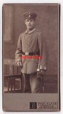 71931 Kabinettfoto Chemnitz Soldat mit Seitengewehr und Portepee