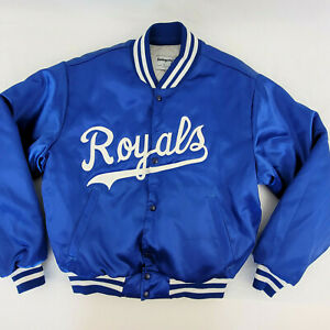 Vintage Kansas City Royals Satin Jacket Large Quilted Lining Swingster Made USA