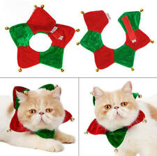 Adjustable Pet Bandana Neck Scarf Christmas Costume Pet Neckerchief with Bell