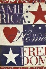 "TRADITIONAL AMERICANA PATRIOTIC YARD GARDEN FLAG 12.5"" X 18"""