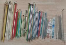 Huge Lot Vintage Knitting Needles Metal Wood Plastic Bakelite Boye+ Pairs Single