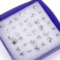 bijoux mesdames les filles oreille étalon les femmes argenté boucles d'oreilles