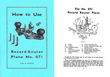 Record 071 Router Plane Manual (Stanley 71?) UK Post Free