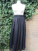 Episode-Ladies Long Black Sheer Vintage Re-Make Skirt Size S/M