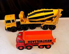 Vintage Diecast Construction Vehicles x 2, Liebherr Cement Mixer + MB Truck