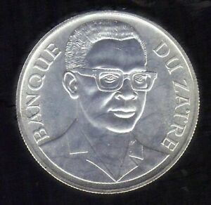1975 Zaire 2.5 zaires  Mountain Gorillas 925 Silver Coin Proof KM #9